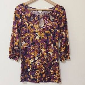 Anthropologie Postmark keyhole blouse